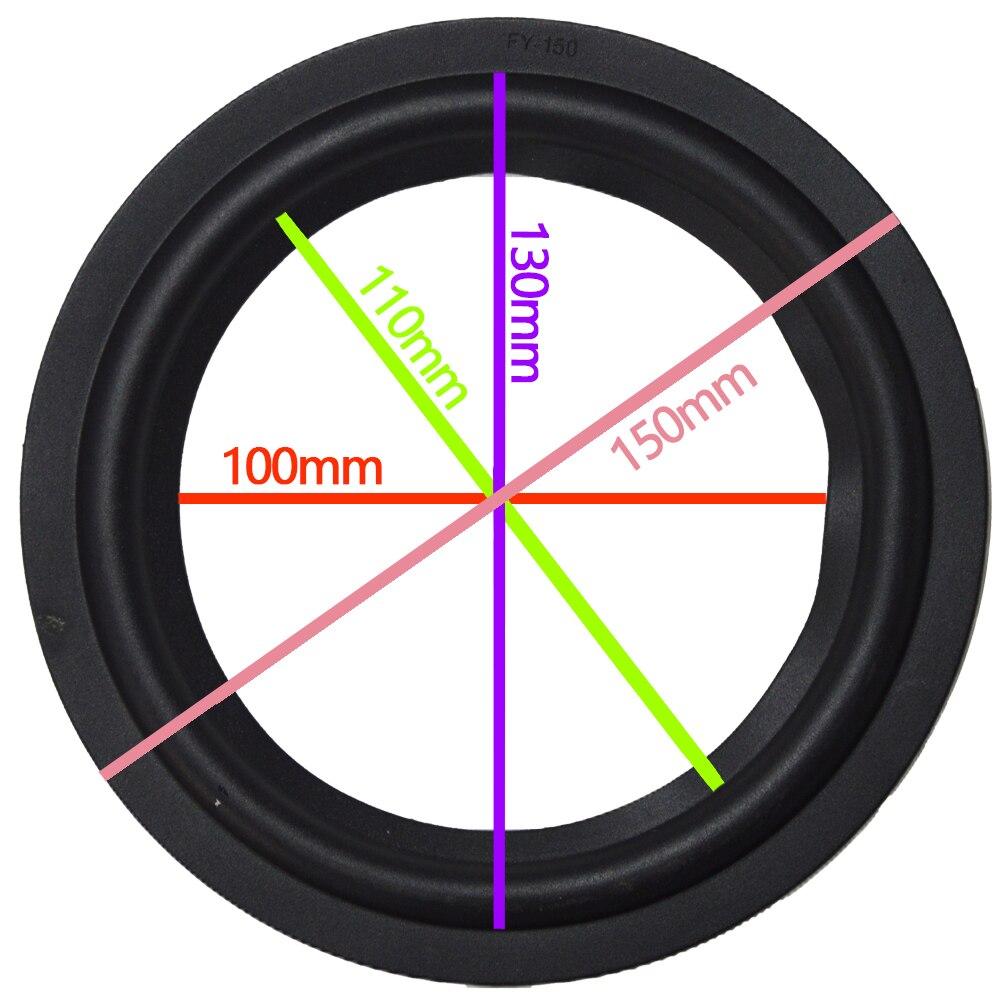 2Pcs 6 Inch 6'' FY-150 Woofer / Bass Speaker Repair Rubber Surround (150mm / 130mm / 110mm / 100mm) Speaker New