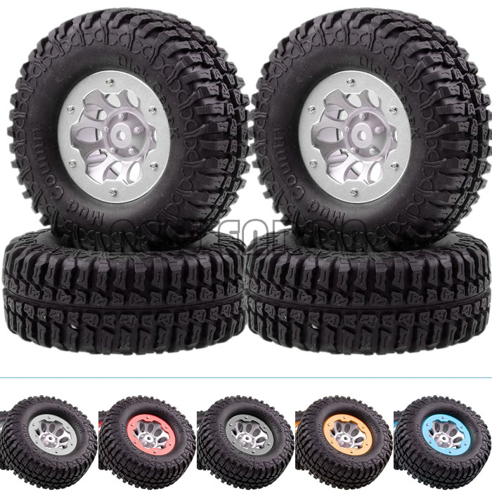 4P Wheel Complete 4035 7036 RC 1 10 Rock Crawler 1 9 Dick Cepek Mud Country