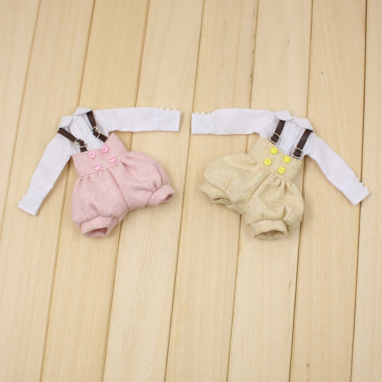 Neo Blythe Doll Suspender Suit with Puffed Shorts 1