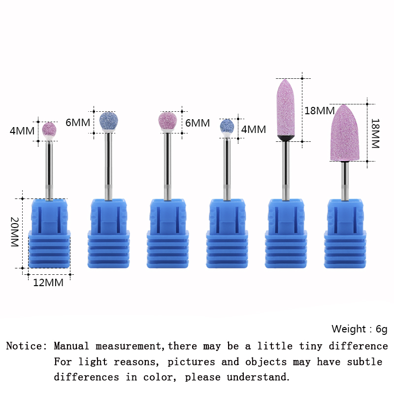 23 Types Diamond Nail File Drill Bit Burr Milling Cutter