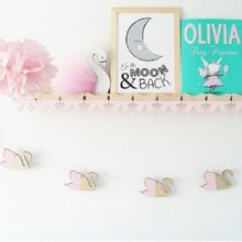 10pc/Set Wood Chips Swan Cloud Feather Garland Boho Banner Party Nursery Room Wedding Wall Decoration Backdrop Flag Hanging Sign