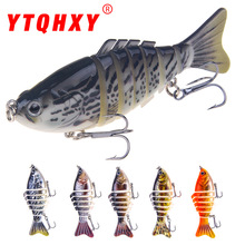 7 Section Swim Bait 80mm 19g 1PC Retail Sinking Fishing Lure Life like Multi Jointed Bait