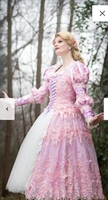2019 New Pink Civil War Victorian Styled Gown Vintage Costumes Victorian Dress D 20190708