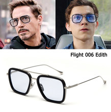 JackJad 2020 Fashion Iron Man Flight 006 Style Polarized Sunglasses Spider-Man Edith Cool Brand Design Sun Glasses Oculos De Sol(China)