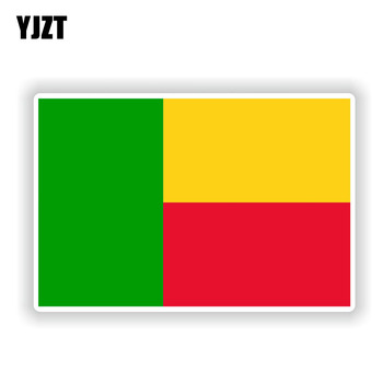 YJZT 13.4CM*8.8CM Creative Decal BENIN Flag Funny Car Sticker Accessories 6-1902 image
