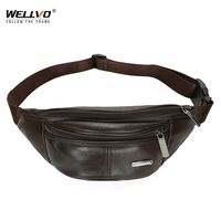 Men Leather Waist Packs Multifunctional Phone Coin Purse Wallet Storage Bag Travel Chest Bag Crossbody Bags For Male XA189WC