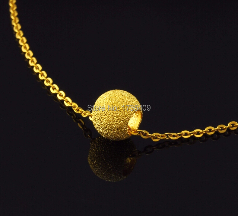 999 24K Yellow Gold Sandstone Beads For Necklace Pendant Or Bracelet 1.05g classic new 10pcs 999 24k yellow gold pendant sandstone loose bead pendant