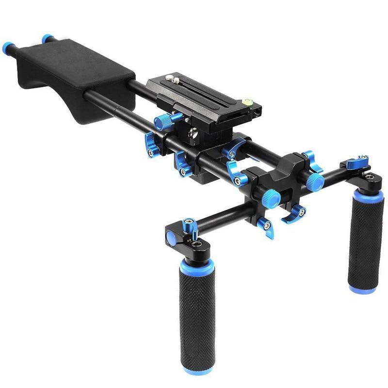 Mcoplus F102 Shoulder Mount Rig stabilizer Slider Steady Support Platform for Canon Nikon Sony DSLR DV Cameras & Camcorders