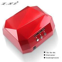 LKE 36W UV Lamp Nail Dryer LED Ultraviolet Lamp for Nails Diamond Shaped Nail Lamp Curing for UV Gel Polish Nail Art