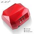 Lke 36 w lámpara uv secador de uñas llevó la lámpara ultravioleta para las uñas diamante En Forma de Lámpara de Curado de Uñas de Gel UV Esmalte de Uñas de Arte