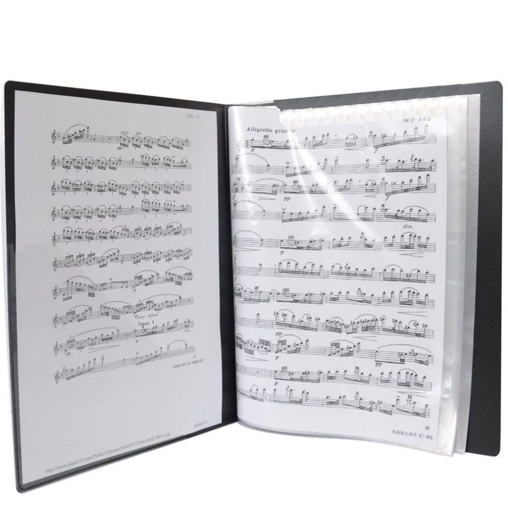 40 Sheets A4 Folders Piano Insert-type Music Book Shape File Storage Supplies Music Score Folder 2018 New hot sales40 Sheets A4 Folders Piano Insert-type Music Book Shape File Storage Supplies Music Score Folder 2018 New hot sales