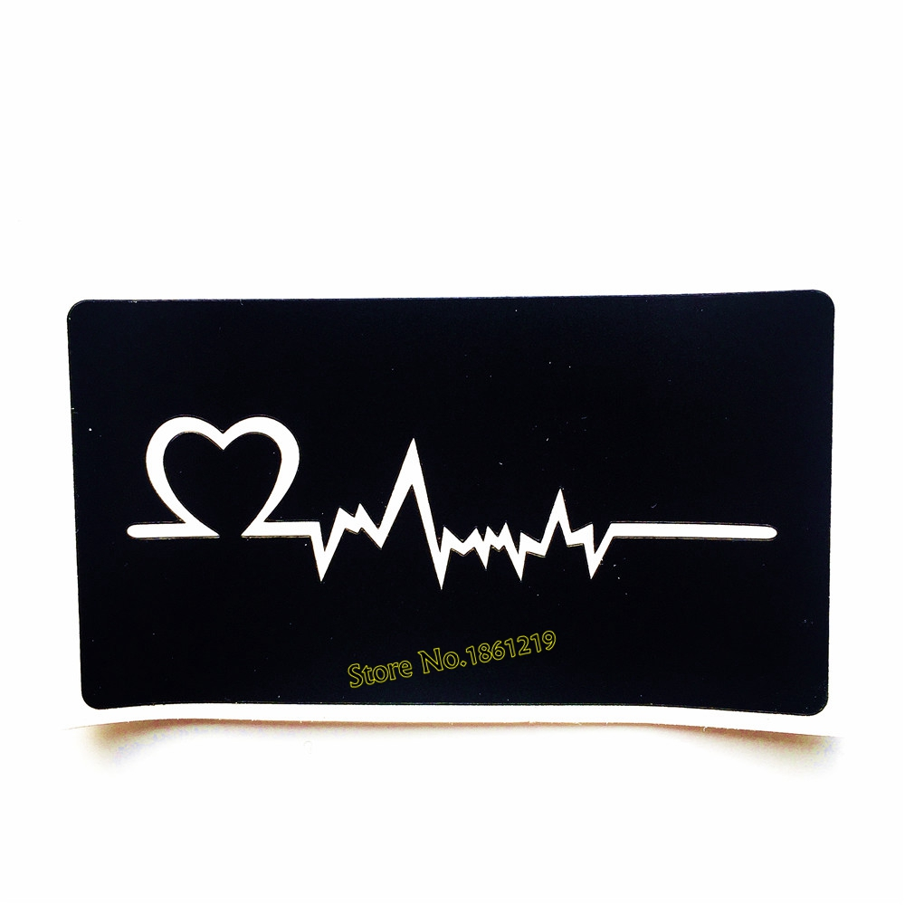 Cute Ecg Tattoo Stencil Women Body Art Airbrush Paint Heart Electrocardiogram Pattern Drawing Template Tattoo Paste