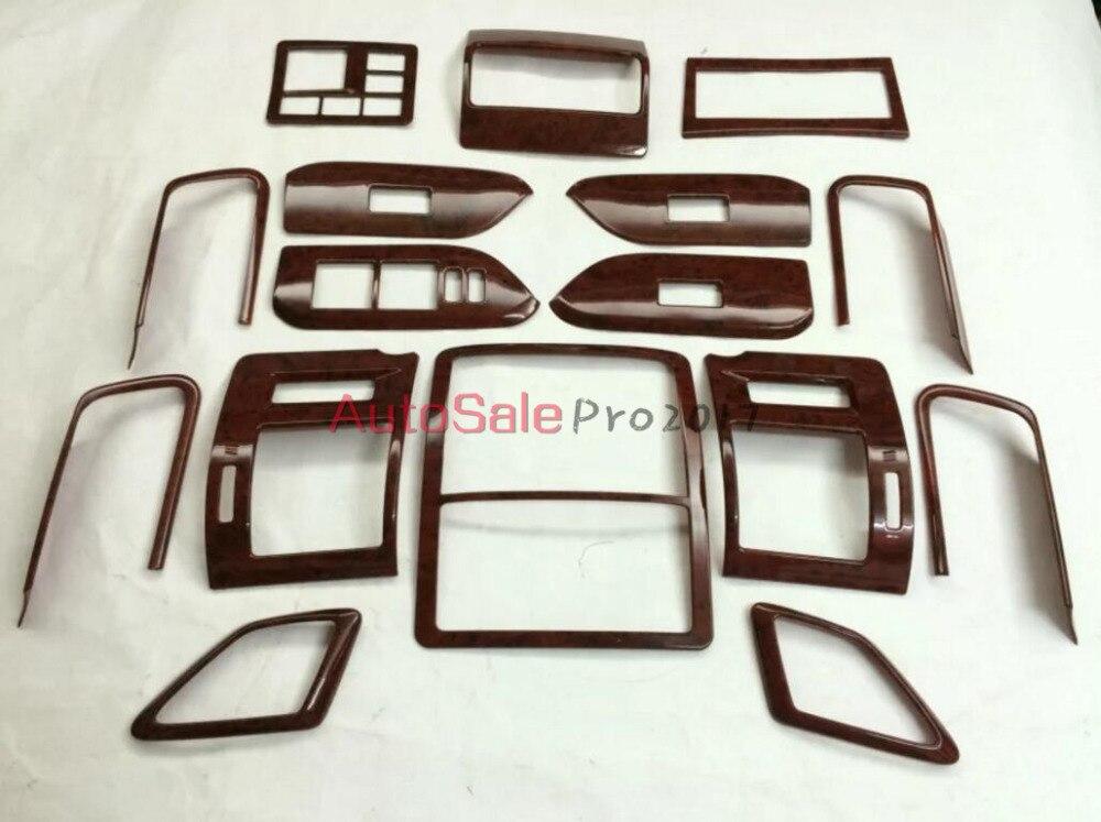 Texture de style automobile des pêchers texture de peac intérieur garniture de couverture Chrome pour Toyota Prado FJ150 FJ 150 2010-2014 2015