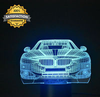 Moonlight Lamplamp 3D Optical Illusion Desk Table Light Lamp Smart Home Night Lights 7 Colors