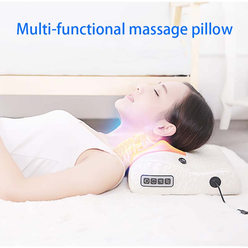 Multifunctional Massage Pillow Cervical Massager Infrared Heating Relax Neck Muscles Back Shoulder Electric Body Massager CCP043 new multi functional cervical massage body waist electric pillow shoulder back neck cushions massager