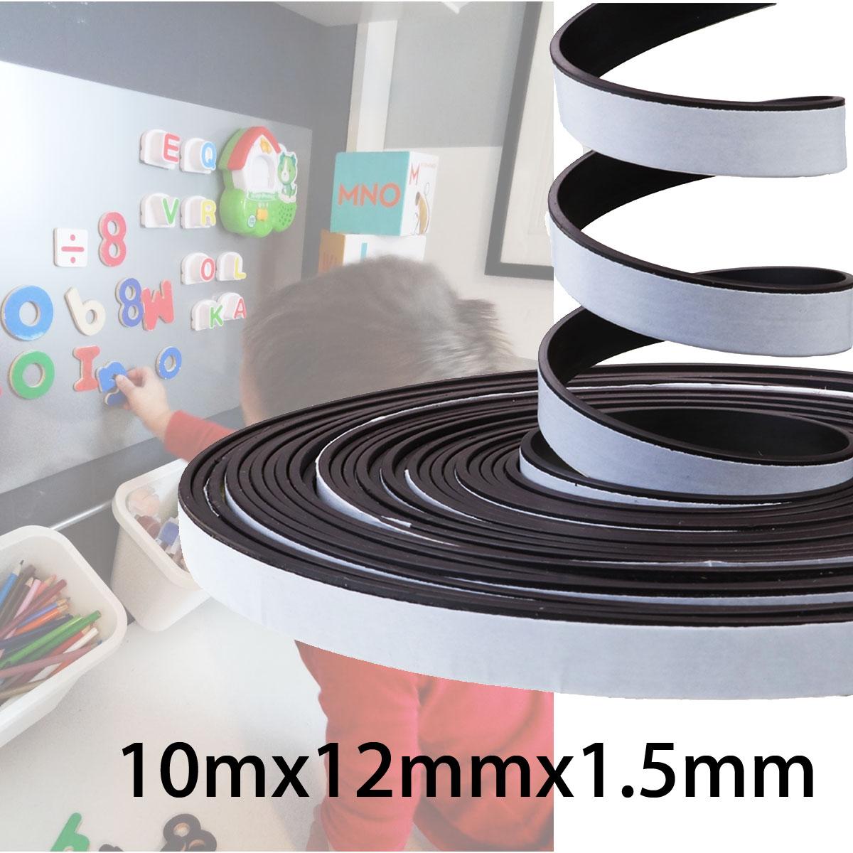 10M Self Adhesive Flexible Soft Rubber Magnetic Tape Blackboard Magnet DIY Strip 5pcs magnet sheet a4 thickness 1mm rubber magnetic strip tape flexible magnet diy craft tape