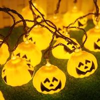 IWHD 2 5M Pumpkin LED Cristmas Lights Luces Decoratives Halloween LED Christmas Lights Fairy String Light