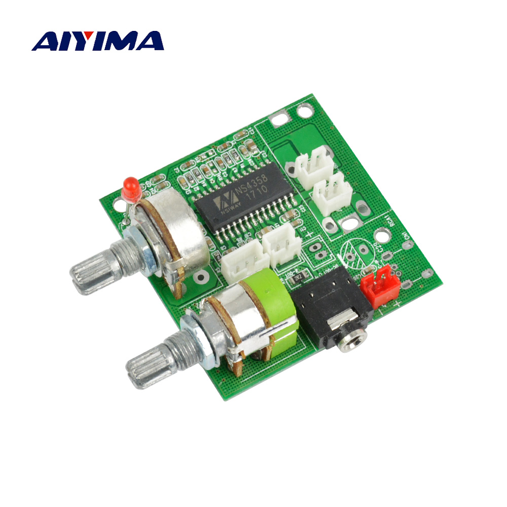 Aiyima 5V Digital Audio Amplifier Board 20W 2.1 Channel Subwoofer Amplifier Board 3D Surround Sound Class D Amplificador aiyima hi fi pam8610 audio amplifier board 15w 2 class d dual channel digital amplifier board dc12v