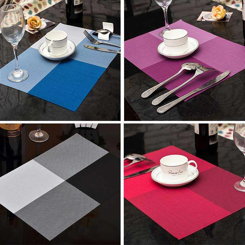 Household Fashion PVC Dining Table Placemat Europe Style Home Kitchen Tools Tableware Pad Coaster Coffee Tea Place Mat