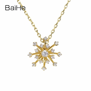 BAIHE Solid 18K Yellow Gold 0.