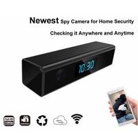 High Sensor Full HD 1920*1080 WiFi Mini Camera Desk Clock Night Vision Wireless Nanny Cam IP Clock View Video Cam