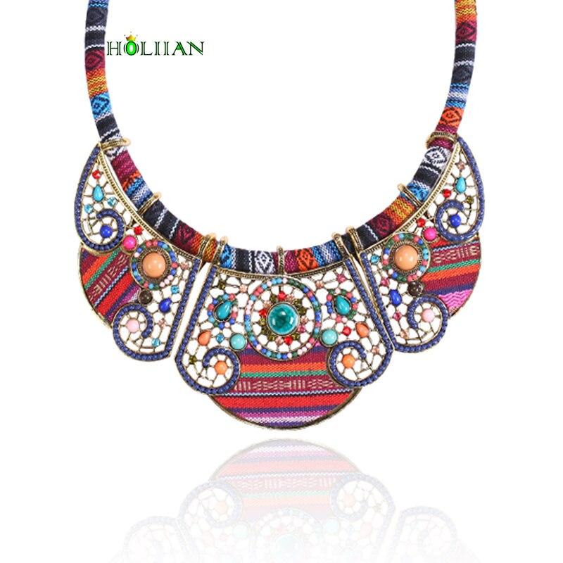 2017 New women bohemia necklace&pendants multicolor statement choker necklace za antique tribal ethnic boho jewelry mujer bijoux ...