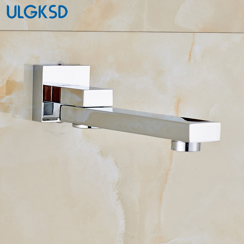 ULGKSD Bathroom faucet wall mount tub spout faucet mixer water faucet bathroom spout replacement para bath shower Mixer taps