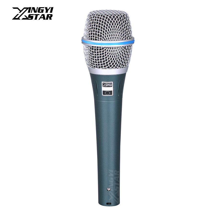 Professional Cardioid Handheld Dynamic Microphone Mike For BETA 87A 87C 87 A Speaking Karaoke Mixer Audio Studio Moving Coil Mic
