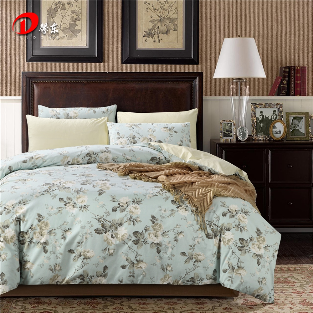 White cotton bed sheets - Luxury Satin Bed Linen Egyptian Cotton Bedding Set King Queen Size High Quality White Floral Bed