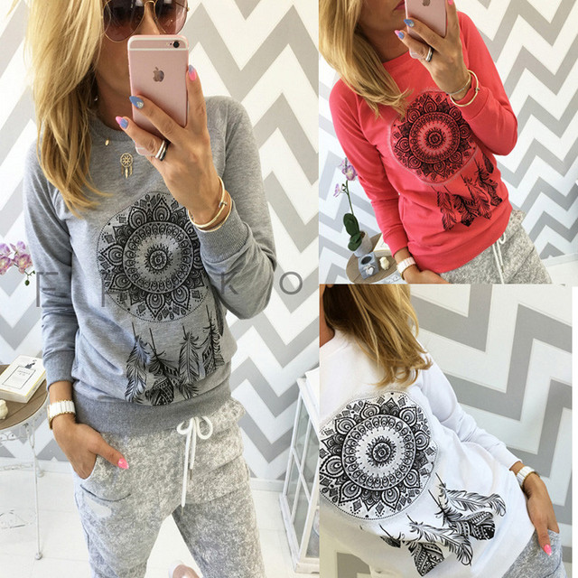 2019 Autumn Women Sweatshirt Casual Long Sleeve O Neck Print Pullover Jumper Hoodies Sweatshirts Fashion Tops Sudaderas Mujer