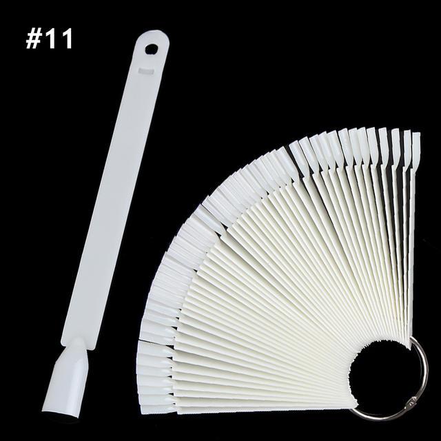 1Set False Nail Tips Nature Clear Black Fan Finger Full Card Nail Art Display Practice Acrylic UV Gel Polish Tool Manicure
