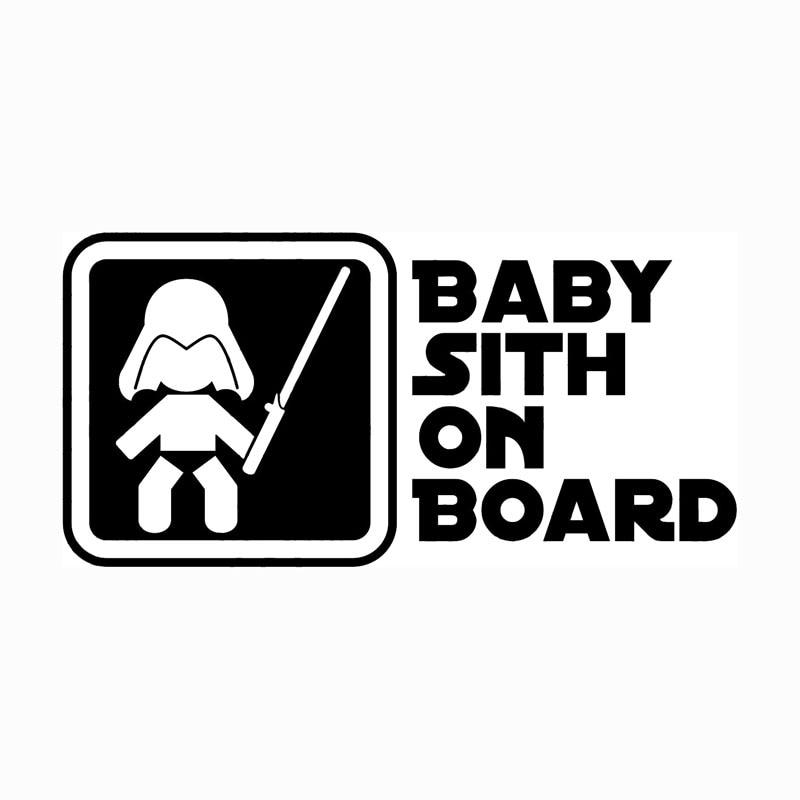 19 1 9 4cm Baby Sith On Board Star War Car Styling Decal