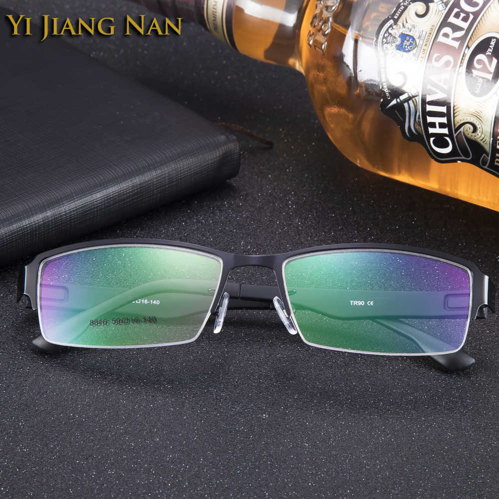 ca2bbf4e3f ... Yi Jiang Nan Brand Alloy Frame TR 90 Temple Wide Frame Big Face Mens  Eyeglasses Frames ...