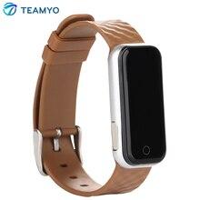 Teamyo Bluetooth 4.0 Smart Band QS50 Смарт Браслет монитор сердечного ритма SmartBand SMS вызова напомнить браслет для Android IOS Телефон