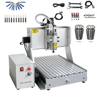 800W 1.5KW 2.2KW Limit Switch USB CNC Engraving Machine 3040 CNC Router 130mm Z Axis Stroke