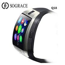 Купить с кэшбэком Q18 Smart Watch Ntelligent Clock Sync Notifier Support Pedometer Camera 32G TF/SIM Card Bluetooth Women Men Smartwatch VS DZ09