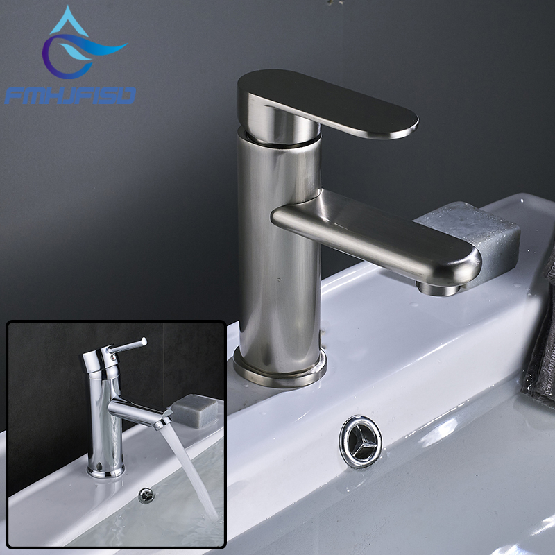 Wholesale Bathroom Mixer Faucet Brushed Nickel Chrome Deck Mounted Sink Faucet Basin Hot and Cold Water Faucet new design deck mounted bathroom sink faucet hot and cold water bathroom sink faucet chrome