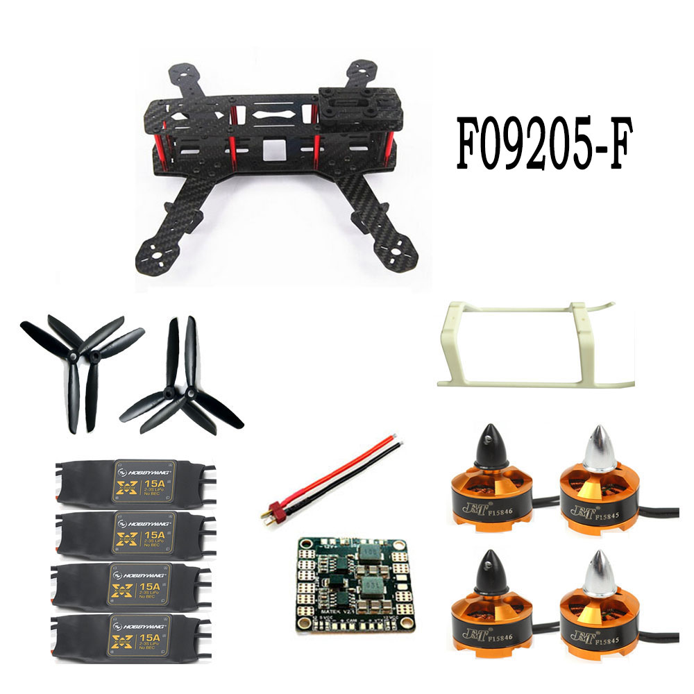 Unassembled Hobby Kit Mini 250 4-Aelx Carbon Fiber 4-Axle Aircraft Frame with Motor 15A ESC  Drone Copter F09205-F 250 mini 250 carbon fiber aircraft frame rtf kit with radiolink t6ehp e tx&rx battery charger full assembled f09205 b