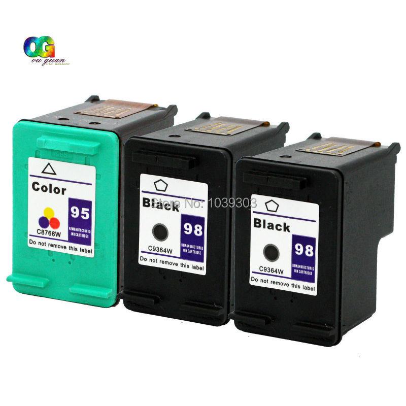Подробнее о 3PK 98/95 Inkjet Compatible For HP 95 98 C8764WN C8766WN Black Color Ink Cartridge Quality 95