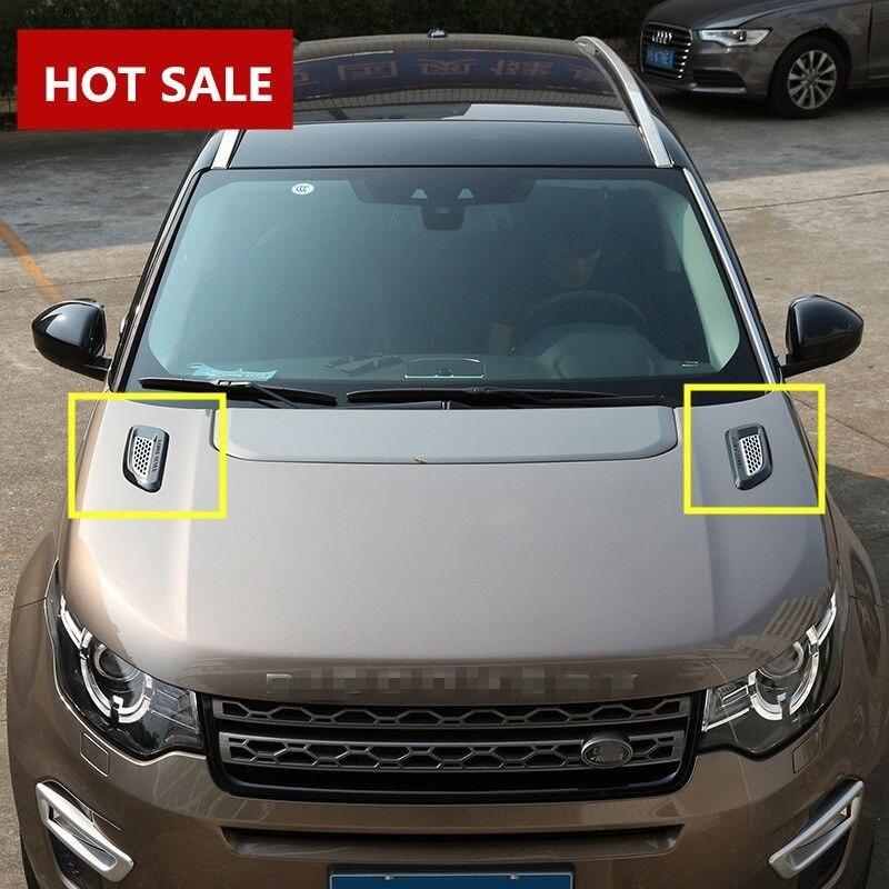 Garniture d'aile de sortie d'aération de capot extérieur pour Land Rover Discovery Sport 2015-2017