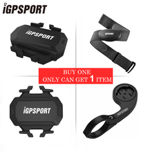 IGSPORT ANT+ Bike Speed Cadence Combo Sensor &Cadence sensor &Heart Rate Monitoring Band &Mount For Bicycle Computer Speedometer
