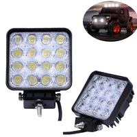 2Pcs 48W Square LED Work Light Bar As Spot Flood LED Offroad Light Lamp Worklight For