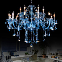 Blue Crystal Chandelier Lighting Fixtures Contemporary led Chandelier Lamp Living Room Hanging Lamp Island of cooking Light Home