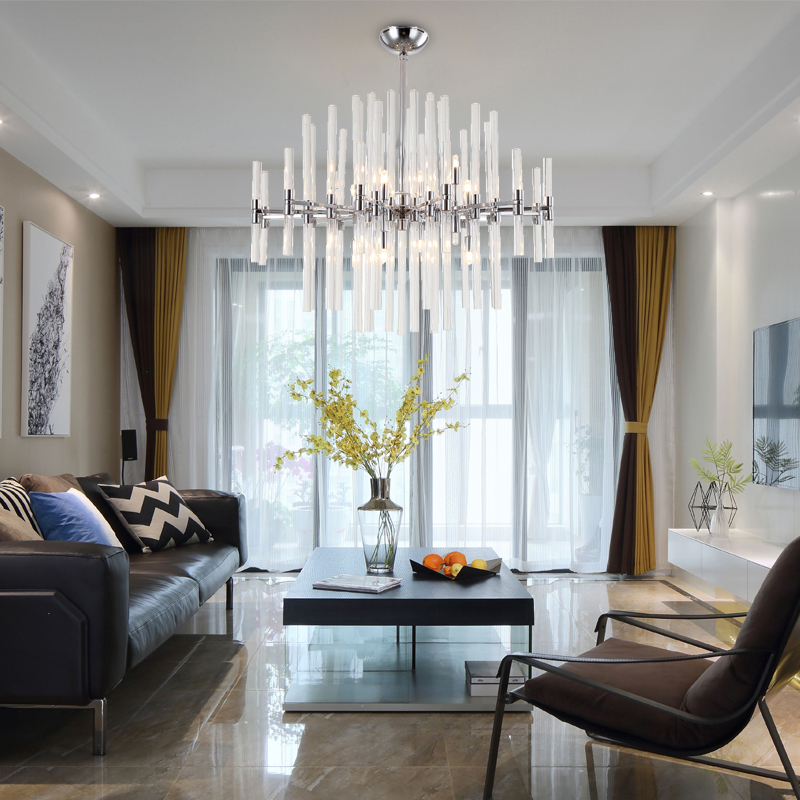 Chrome LED Glass Chandelier Lighting Luxury Living Dining Room Crystal 1
