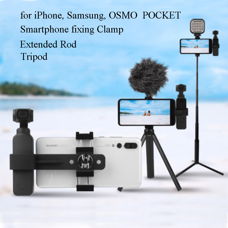 Mini Bracket with Shoe Mount Fill Light Microphone Cellphone for DJI OSMO Pocket Action Camera Vbestlife Portable Non-Slip Tripod Support