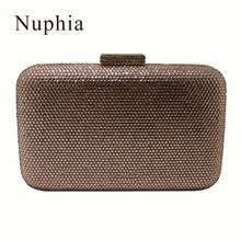 69edc5ed71 NUPHIA 2018 New Crystal Evening Bags and Clutches Handbag for Party Prom  Evening Green Purple