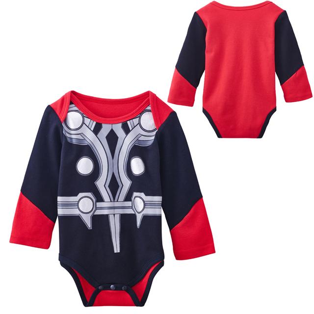 Bébé Garçon Thor Costume Avengers Body Infantile Partie Cosplay One Piece Manches Longues Coton 0-18 Mois