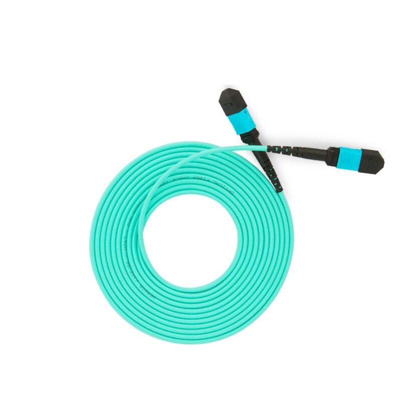 OM3 MPO MPO 8 Core Fiber Optic Patch Cord Cable 10GB 50/125 Multimode Fiber Optic Cable 3M