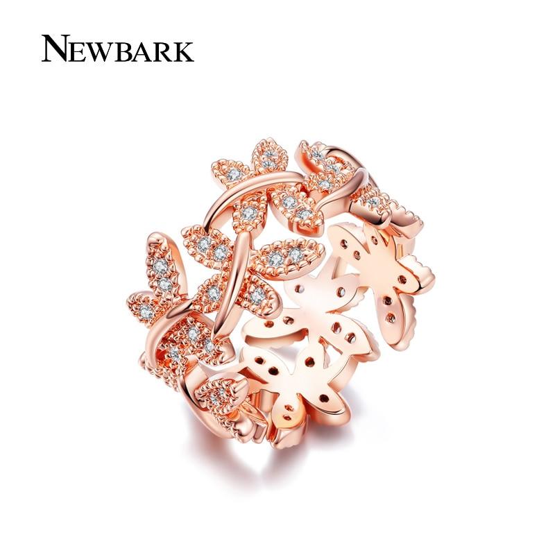 NEWBARK Κομψά δαχτυλίδια λουλουδιών που - Κοσμήματα μόδας - Φωτογραφία 3