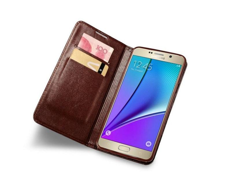Samsung S6 Case կաշվե մագնիսական մատով խցկող - Բջջային հեռախոսի պարագաներ և պահեստամասեր - Լուսանկար 6